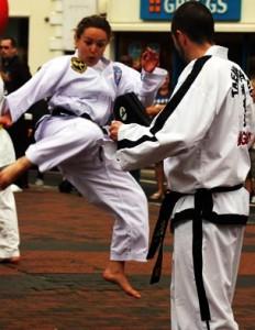 Holly kicking