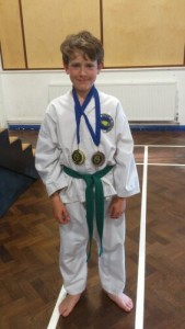 Joe with his medals